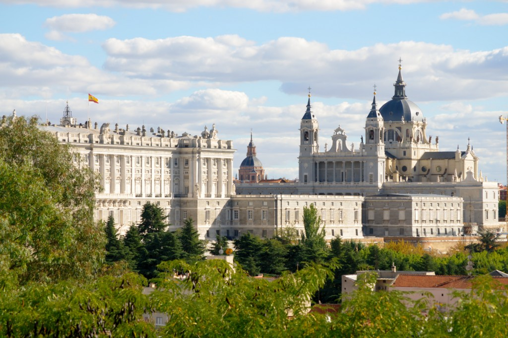 Madrid Royal Palace and Cathedral - stock - jsogo